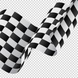 在透明背景的挥动的方格的旗子 标记赛跑 也corel凹道例证向量 库存例证