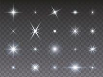 在透明背景的星汇集 向量例证