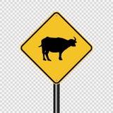 在透明背景的标志动物横渡的标志 向量例证