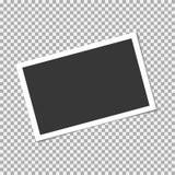 在透明背景的照片框架 传染媒介模板,空白 免版税库存图片