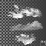 在透明背景的现实云彩 皇族释放例证