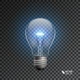 在透明背景的电灯泡 库存例证