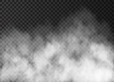 在透明背景的白色烟纹理 皇族释放例证