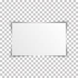 在透明背景的空白的长方形册页模板 也corel凹道例证向量 库存例证