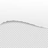 在透明背景的被撕毁的纸横幅 也corel凹道例证向量 免版税库存图片