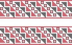 在透明背景的被绣的样式 免版税图库摄影