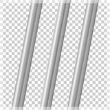 在透明背景的金属管子 向量例证 库存例证
