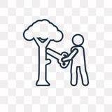 在透明背景隔绝的木切开的传染媒介象,林 库存例证
