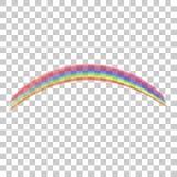 在透明背景隔绝的现实彩虹象 免版税图库摄影