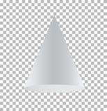 在透明背景隔绝的锥体 锥体标志 免版税库存照片