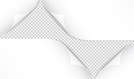 在透明背景隔绝的现实纸角落 免版税库存照片
