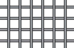 在透明隔绝的监狱酒吧 库存例证