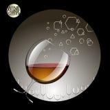 在透明玻璃和酒精饮料的饮料 传染媒介illustrat 库存照片