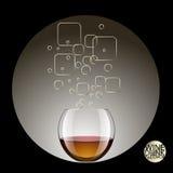 在透明玻璃和酒精饮料的饮料 传染媒介illustrat 免版税库存图片
