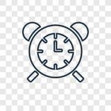 在透明b隔绝的台式时钟概念传染媒介线性象 皇族释放例证