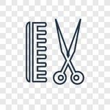 在透明backgr隔绝的理发师概念传染媒介线性象 皇族释放例证