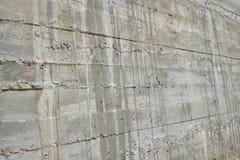 在透视的层状混凝土墙 图库摄影
