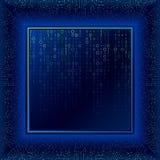 在透视的电路板 二进制编码数字技术 库存图片