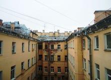 在透视的都市历史大厦 免版税库存照片