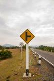 在途中泰国的交通标志 免版税库存图片