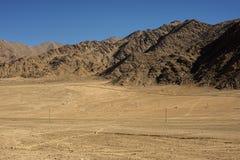在途中的沙丘对从leh的lamayuru 免版税库存照片