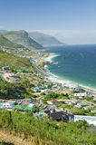 在途中的高的风景看法向开普角,好望角,在开普敦外面,南非 免版税库存照片