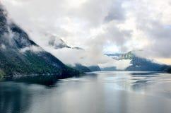 在途中的Sognefjorden对Flam 库存图片