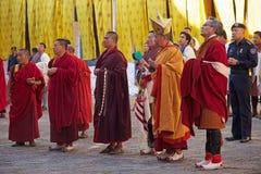 在通萨Dzong,通萨,不丹的庆祝 免版税图库摄影