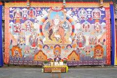 在通萨Dzong,通萨,不丹的Thangka 图库摄影