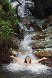 在通配本质的温泉 库存照片