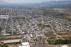 在道格拉斯,亚利桑那的边界 库存图片