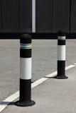 在道路的停车处杆 图库摄影