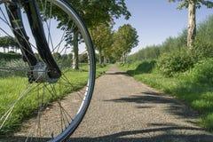 在道路的自行车 图库摄影