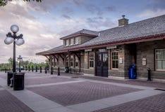 在遗产公园的老火车站 免版税图库摄影