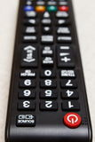在遥控的按钮电视的 库存照片