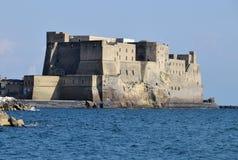 在那不勒斯,那不勒斯,意大利海湾的Castel dell'Ovo  免版税库存照片