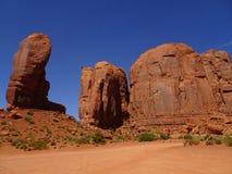 在那瓦伙族人储备的纪念碑谷在犹他,美国 免版税图库摄影