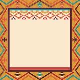 在那瓦伙族人样式,传染媒介例证的五颜六色的边界 免版税库存照片