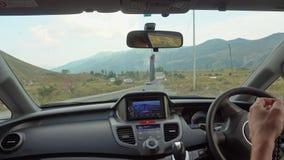 在那里模块挡风玻璃里面的汽车gps GPS模块打开 免版税库存照片