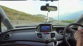 在那里模块挡风玻璃里面的汽车gps GPS模块打开 库存图片