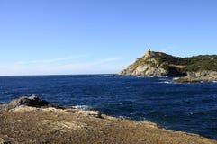 在邦多,法国附近的海风景 图库摄影
