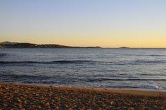在邦多,法国附近的海风景 免版税库存照片
