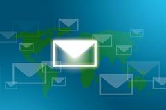在邮件世界范围内 免版税库存图片