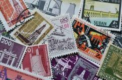 在邮票的产业 免版税库存图片
