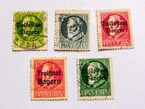 在邮票的人画象 免版税库存照片