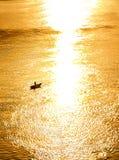在郎Co海滩的日落! 免版税库存照片