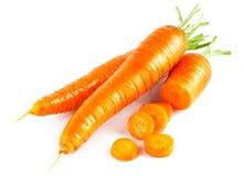 在部分的新鲜的红萝卜 免版税库存图片