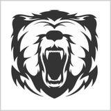 在部族样式的顶头北美灰熊棕熊 皇族释放例证