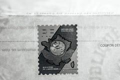 在部的正式文件的全息照相的邮票Interi 免版税库存图片