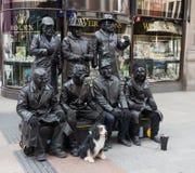 在都伯林市模仿Grafton街的艺术家 免版税库存照片